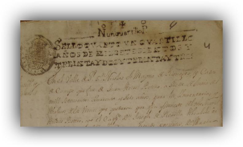 Cobro de bienes de Juan Andrés Botero- Bottero. Siglo XVIII