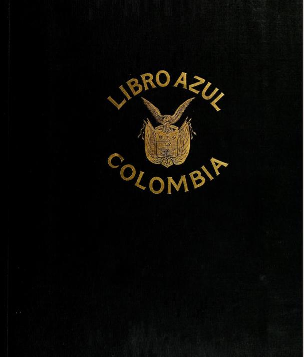 Libro Azul de Colombia- Año 1918